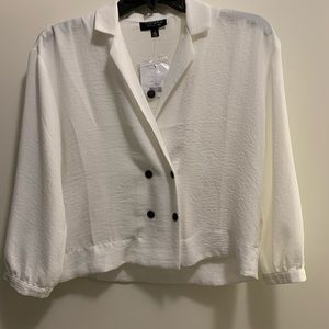 TOPSHOP Cropped Blouse NWT